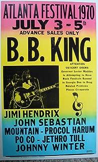 B.B. King Playing in Atlanta Vintage Poster Print