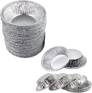 Bangbuy Disposable Aluminum Foil Mini Tart/Pie Pans, 3 Inch Small Tart/Pie Pan Portuguese Tart Baking Mold Mini Tart/Pie Tins for Baking Supplies, Pack of 100