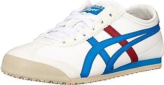Onitsuka Tiger 墨西哥66PS 系带运动鞋幼儿/小童/大童 White/Mid Blue 1 M US 儿童