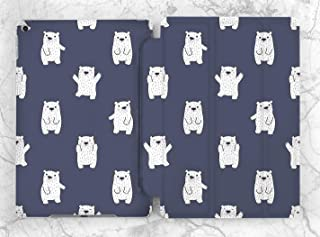 Cute Polar Bear Pattern Case For Apple iPad Mini 1 2 3 4 5 iPad Air 2 3 iPad Pro 9.7 10.5 11 12.9 inch iPad 9.7 inch 2017 2018 2019