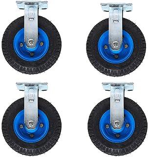 LKLXJ Opblaasbare wielen Rubber Heavy Duty, Stille en schokbestendige, multi-gat vaste installatie, industriële wielen, du...