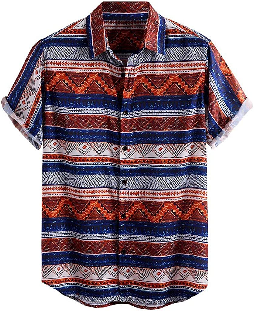 ZSBAYU Funky Hawaiian Shirt | Men Shirts | Short-Sleeve Floral | Button Lapel | Multiple Colours | Hawaiian Print Tops