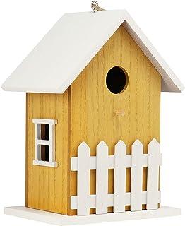 com-four® Pajarera de Madera - Nidal para pájaros pequeños - Pajarera Decorativa para Colgar - Pajarera para pájaros Salva...