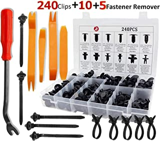 KCRTEK 255pcs Car Retainer Clips,Plastic Push Rivets auto Parts & Accessories with 12 Sizes for Toyota,GM,Ford,Honda,Acura,Chrysler