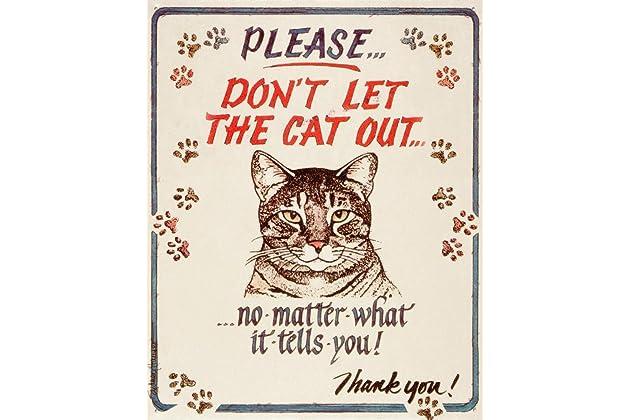 Best cat signs for doors   Amazon com