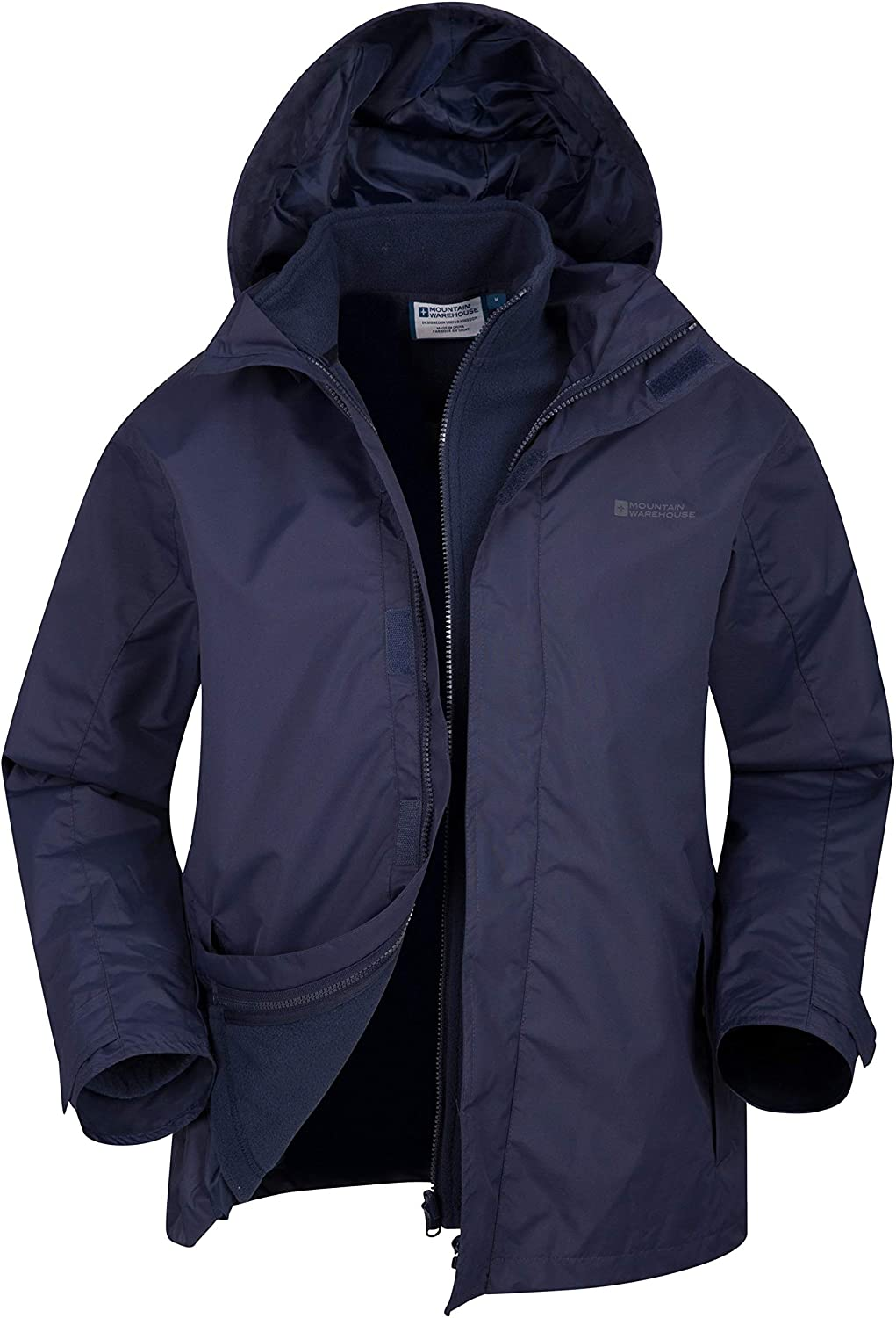 Mountain Warehouse Fell Mens 3 in 1 Water Resistant Jacket - Winter