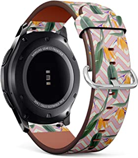 c262cdaa443 Compatible with Samsung Gear S3 Frontier Classic - 22mm Quick-Release  Leather Band Bracelet