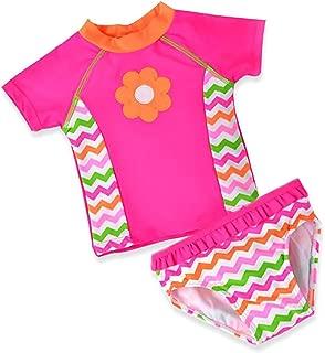 Jojobaby Baby Girls One Piece Swimsuit Cute Swan Bathing Suit Tutu Dress Swimwear