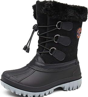 TQGOLD® Bottes de Neige Enfant Garcon Fille Chaussure de Hiver Impermeable Chaudes Fourrées Chaussure de Randonnée