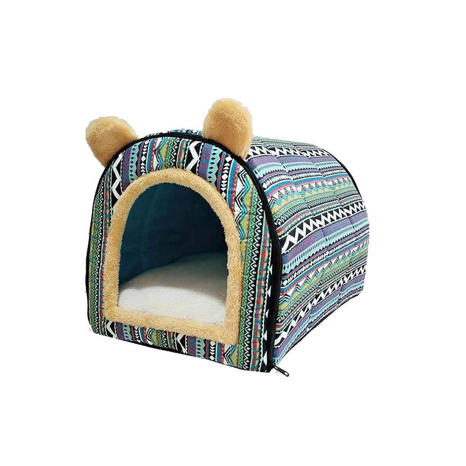 ゴシップ散歩特徴犬舐めマットソフトウォームペット犬のベッドハウス用小型犬冬暖かい巣ペット猫小型犬子犬犬小屋ベッドソファ寝袋-6-S、