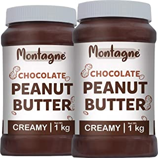 Montagne Chocolate Peanut Butter Creamy 2 KG ( 1 KG Pack of 2)