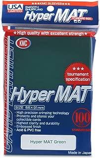 KMC Hyper Matte Green 100-count Standard Size Sleeves Pack [USA packaging]