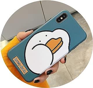 かわいいビッグダックFor アップルX/Xs/Max/XRモバイルシェルFor iPhone7 / 8plusシリコンケースクリエイティブドロップ6s,For iPhoneX green bottom 大きなアヒルの頭