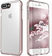 Saharacase iPhone Case, Rose Gold Clear Protective Kit, compatible with 8 Plus and 7 Plus