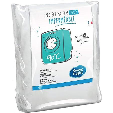 Sweetnight - Protège Matelas Alèse Imperméable et Micro Respirante Souple et Silencieux Lavable à 90°C 140 x 190/200 cm