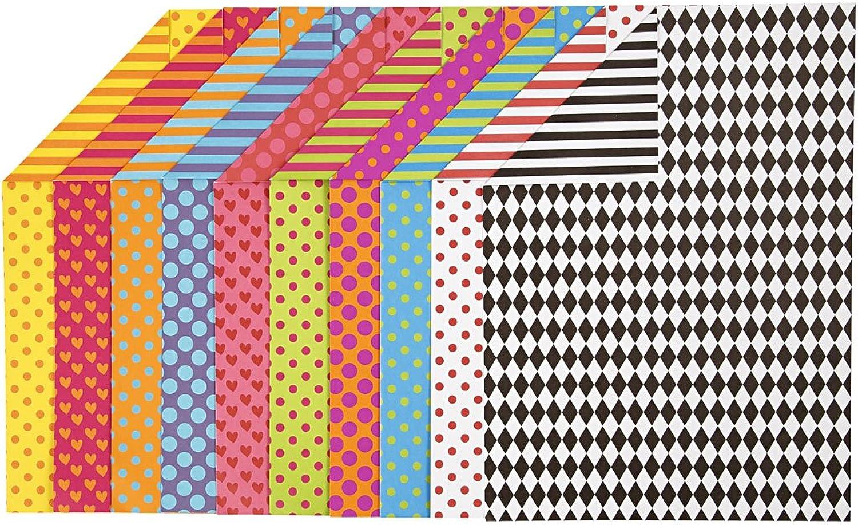 Karten mit Farbdesign, A4 210x297 mm, 250 g, sortierte Farben, 200sort. Blatt B01M5FNBN6   | Große Auswahl