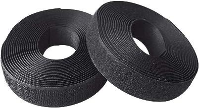 1 inch (25 mm) 5 Yards Naaien op haak + lus lus Naai (zwart)