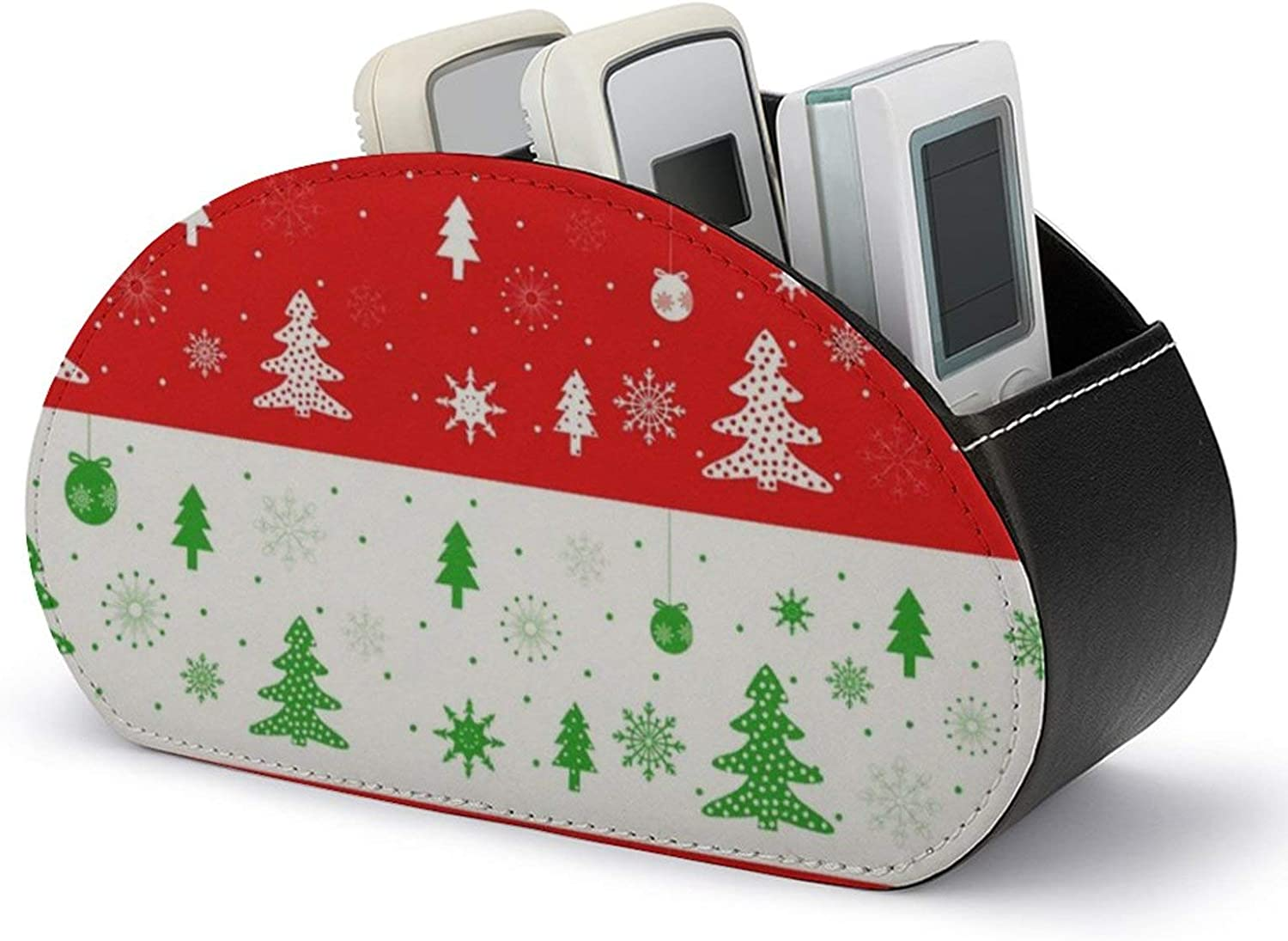 Bombing Max 77% OFF new work TV Remote Control Holder PU Christmas Leather Multi-Functi Trees