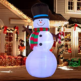YIHONG 7 Ft Christmas Inflatables Snowman with Color Changing LED Lights Decorations - Blow up Party Decor for Indoor Outdoor Yard