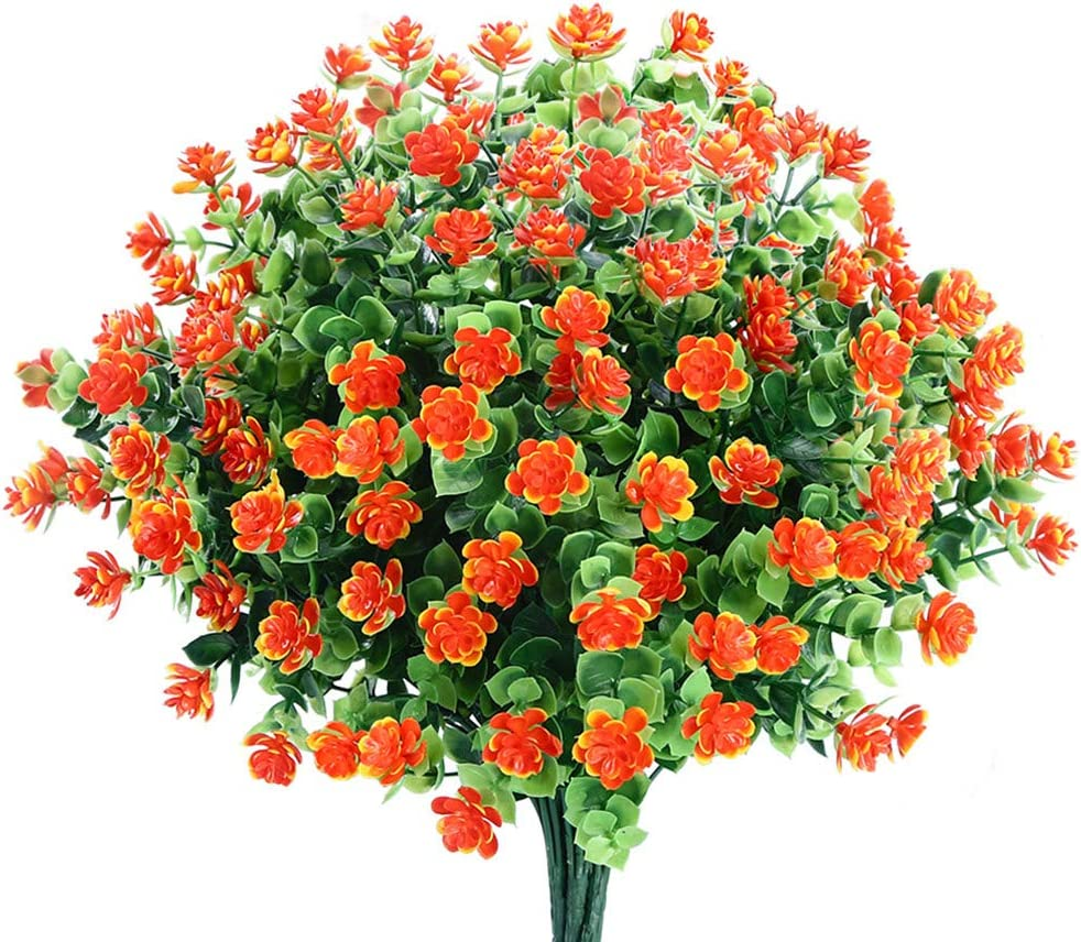 6 Bundles Artificial Flowers specialty shop Attention brand Fake Outdoor Decoration for