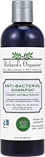 Richard's Organics Anti-Bacterial Shampoo for Dogs – Formulated with Tea Tree Oil and Neem Oil - 100% Natural Active Ingredients Shampoo to Treat Fungal, Bacterial and Yeast Skin Infections in Dogs (12 oz.)