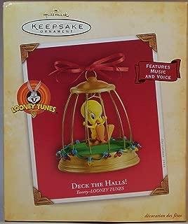 QXI4004 Deck the Halls! Tweety Looney Tunes sound 2004 Hallmark Keepsake Ornament