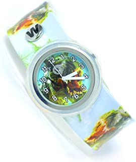 Watchitude | Kids Watch for Boys & Girls | Slap Watch Band | Waterproof | Plunge Proof | Removable Face | Mix & Match | Dinosaur Roar