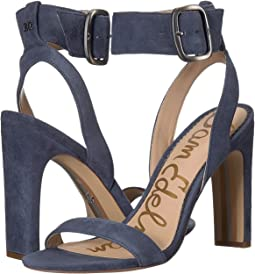 Marina Blue Kid Suede Leather
