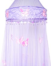 OctoRose Butterfly Bed Canopy Mosquito NET Crib Twin Full Queen King (Purple)