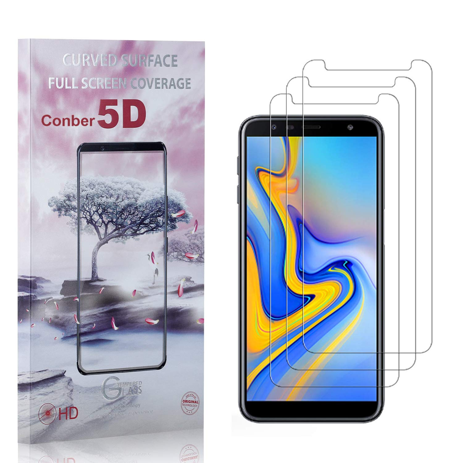 Conber 3 Atlanta Mall Pack Screen Protector for OFFicial store Plus An Galaxy J4 Samsung
