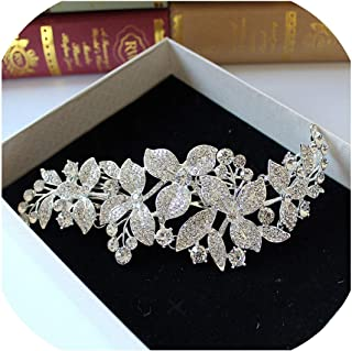 Alloy Rhinestone Bridal Frontlet Crown Indian Headpiece Wedding Hair Accessories Bijoux Cheveux