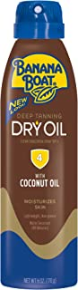 Banana Boat Sunscreen Ultra Mist Deep Tanning Dry Oil Sun Care Sunscreen Spray - SPF 4, 6 Ounces (Pack of 3) (Packaging may vary)