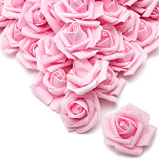 Bright Creations Rose Flower Heads, Artificial Flowers (2 in, Light Pink, 200-Pack)