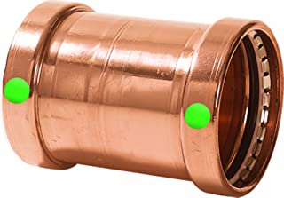 Viega 20748 ProPress Zero Lead Copper XL-C Coupling without Stop 3-Inch P x P