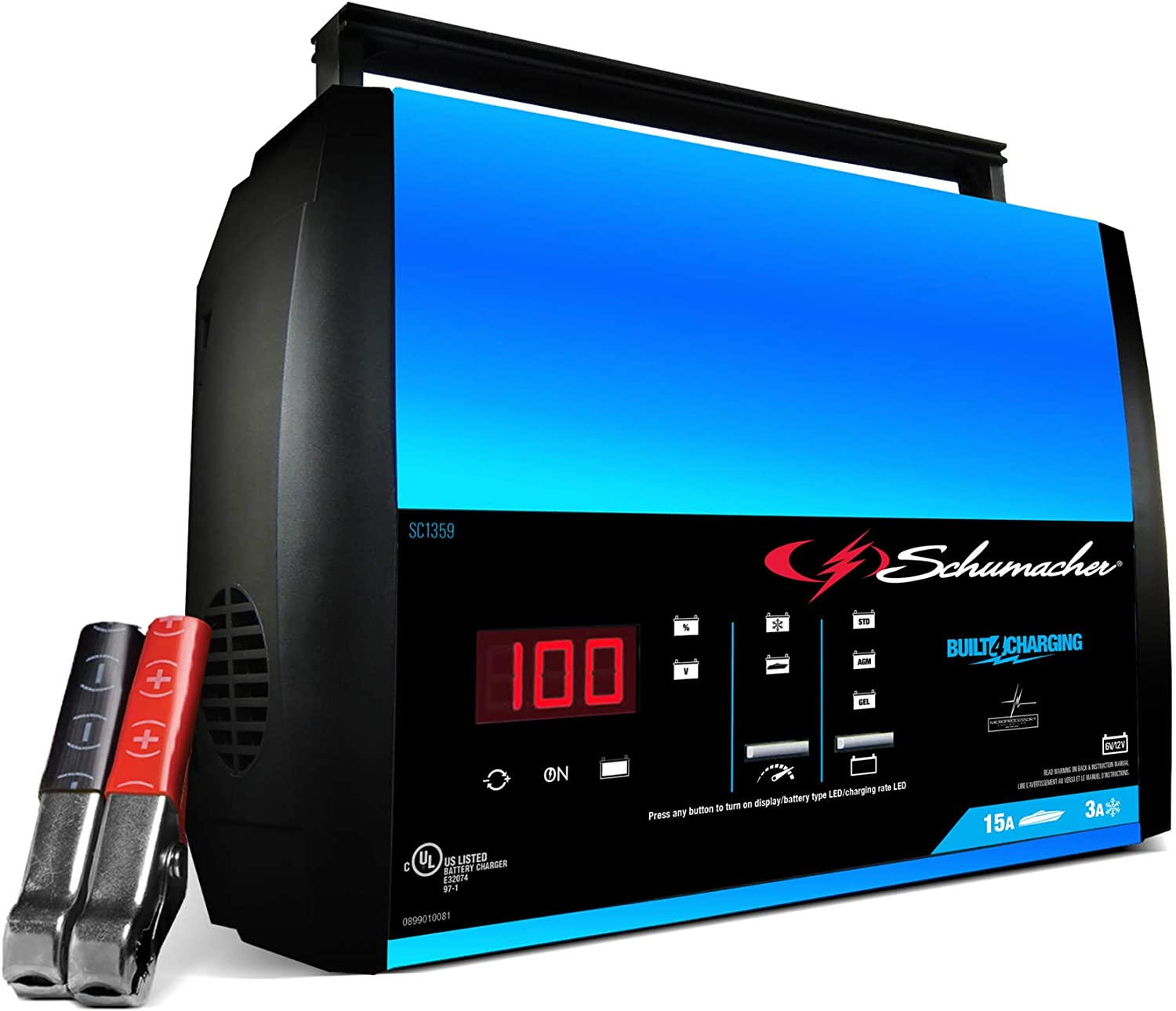 Schumacher Fully Automatic Battery Charger, Maintainer, and Auto Desulfator