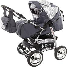 Lux4kids Buggy Silla de ruedas fija + capazo + VIP-Made in Europe Accesorios opcionales iCaddy GT-silver flowerpower