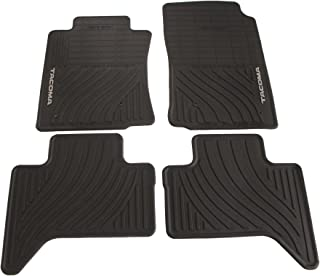 Genuine Toyota Accessories PT908-35002-02 Front and Rear All-Weather Floor Mat - (Black), Set of 4