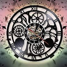 Engranajes y engranajes disco de vinilo reloj de pared engranaje ...