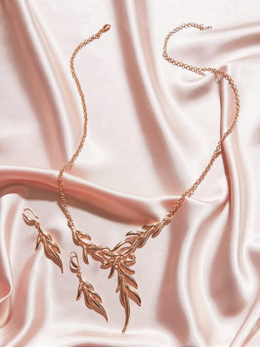 ZHAWE Women's Charlotte Mall Jewelry Set Genuine Free Shipping Series Leaf Design 3pcs C