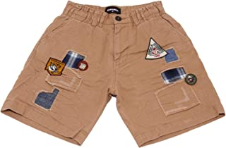 DSQUARED2 5676AB Bermuda Bimbo Boy Light Brown Weathered Look Shorts Kid