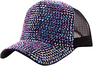 Baseball Cap Rhinestone Baseball Cap Fashion Outdoor Summer Diamond Casual Breathable Mesh Point Drill Hat Unisex