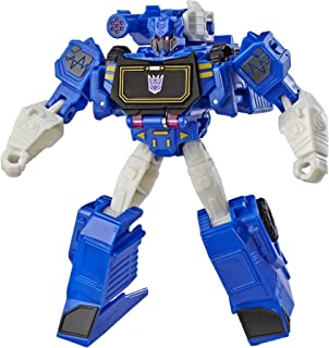 Transformers Bumblebee Cyberverse Adventures Warrior Class Soundwave Action Figure Toy, Repeatable Attack Move, For Ages 6...