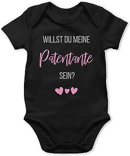 Shirtracer Strampler Motive - Willst du Meine Patentante Sein - Baby Body Kurzarm für Jungen und Mädchen