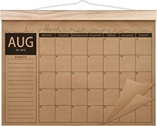2019-2021 Calendar - 18 Monthly Academic Desk or Wall Calendar Planner, Thick Kraft Paper Perfect for Organizing & Planning, August 2019 - January 2021, 12.2
