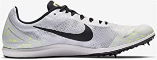 Mens Zoom Rival D 10 Track and Field Shoes (White/Black/Volt/9.5 D (M) US)