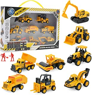 MagiDeal Alloy Cat Mini Machine Construction Truck Toy Simulation Engineering Model Toy Cars Set of 8