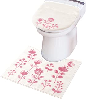 オカ(OKA) トイレファブリックセット 3. ピンク (トイレマット+フタカバー) ファンディット3 トイレ2点セット (洗浄暖房・O・U型兼用)