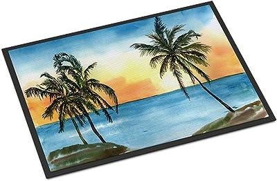 "Caroline's Treasures Palm Tree Scene Indoor or Outdoor Mat, 18"" x 27"", Multicolor"