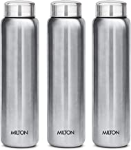 MILTON Aqua 1000 Stainless Steel Water Bottle, 930ml, Set of 3, Silver