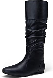 Women's 40 Slouch Boots Knee High Tall Slouchy Boot Flat...
